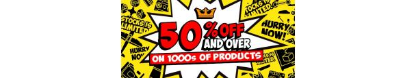 50% Off or more