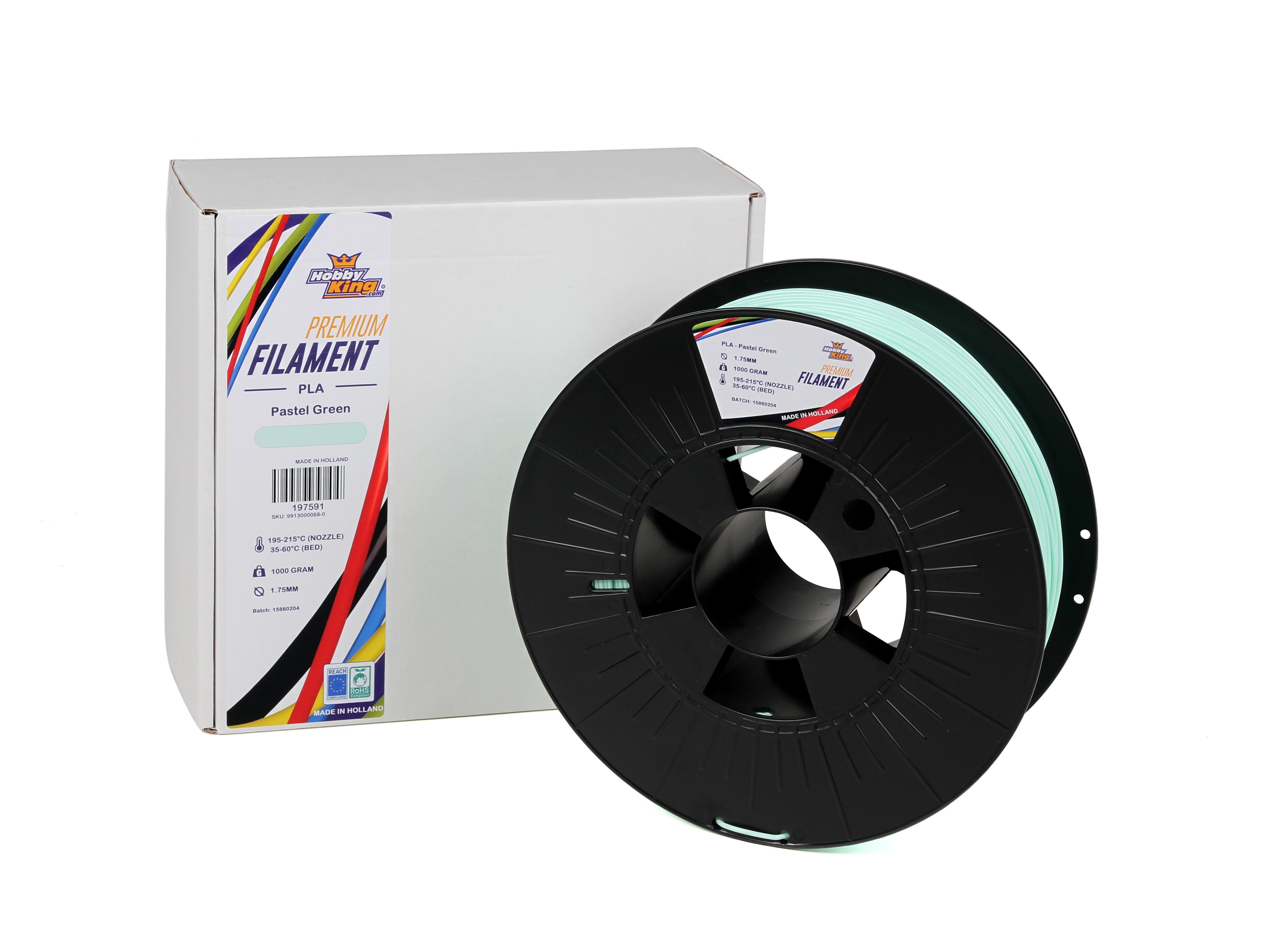 Rc Pla Premium Pastel Green 1kg 1.75mm Hobbyking 3d Printers & Supplies 3d Printer Consumables