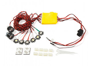 HobbyKing™ High Power 8pc Aircraft Navigation and Landing Light Set (overview)