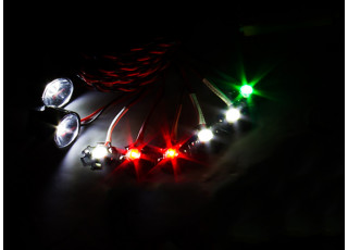 HobbyKing™ High Power 8pc Aircraft Navigation and Landing Light Set (working)