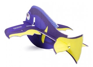 H-King Glue-N-Go Blue Tang EPP 850mm (Kit) - rear view