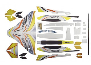 H-King Arctic Cat Water Plane - Glue-N-Go - Foamboard PP 820mm Yellow (Kit) - kit
