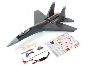 SU-35 Fighter Jet 1:20 Scale Mid-Engine Pusher Prop 735mm (PnP) - components
