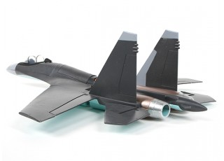 SU-35 Fighter Jet 1:20 Scale Mid-Engine Pusher Prop 735mm (KIT) - rear view
