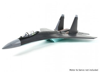 SU-35 Fighter Jet 1:20 Scale Mid-Engine Pusher Prop 735mm (KIT) - side view
