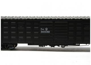 P64K Box Car (Ho Scale - 4 Pack) Black Detail 1
