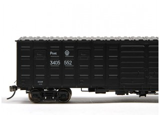 P64K Box Car (Ho Scale - 4 Pack) Black Set 2 / 3