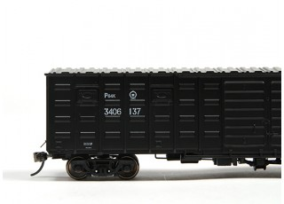 P64K Box Car (Ho Scale - 4 Pack) Black Set 2 / 4
