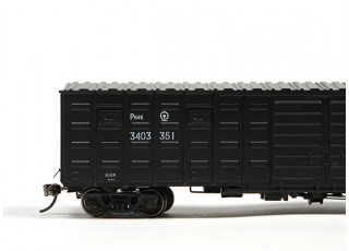 P64K Box Car (Ho Scale - 4 Pack) Black Set 2 / 1