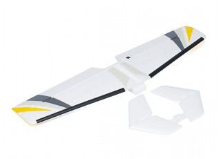 Avios BushMule - Horizontal Tail w/Stickers and Float Fins (Yellow/Grey)