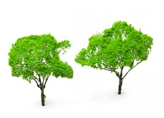 HobbyKing™ 120mm Light Green Scenic Wire Model Trees (2 pcs)