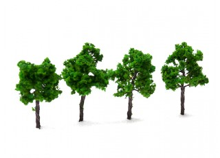 HobbyKing™ 70mm Scenic Wire Model Trees (4 pcs)