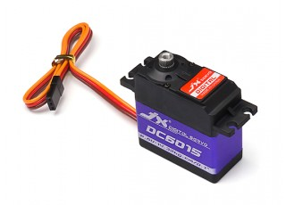 JX DC6015 Coreless Metal Gear High Torque Digital Servo 14.32kg/0.10sec/62g with lead