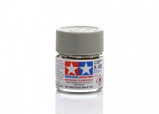 Tamiya X-32 Gloss Titanium Silver Mini Acrylic Paint (10ml)