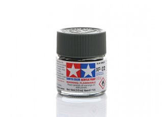 Tamiya XF-22 Flat RLM Grey Mini Acrylic Paint (10ml)