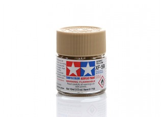 Tamiya XF-59 Flat Desert Yellow Mini Acrylic Paint (10ml)
