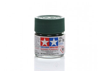 Tamiya XF-70 Flat Dark Green Mini Acrylic Paint (10ml)