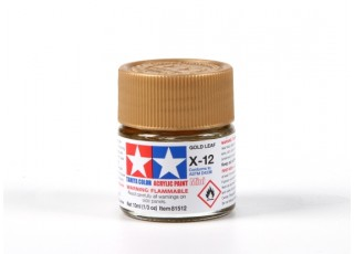 Tamiya X-12 Gold Leaf Acrylic Paint (10ml)