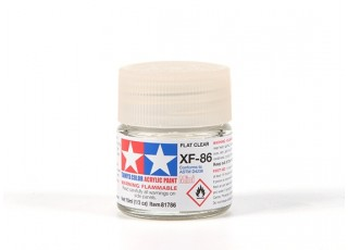 Tamiya XF-86 Flat Clear Acrylic Paint (10ml)