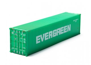 HO Scale 40ft Shipping Container (EVERGREEN) rear view