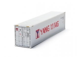 HO Scale 40ft Shipping Container (Yang Ming) rear view