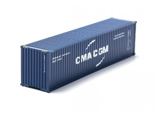 HO Scale 40ft Shipping Container (CMA CGM) front view