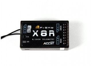 FrSky X8R 8/16Ch S.Bus ACCST Telemetry Receiver EU Version- Front View