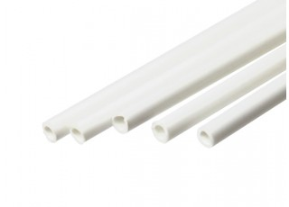 ABS Round Tube 3.0mm OD x 500mm White (Qty 5)