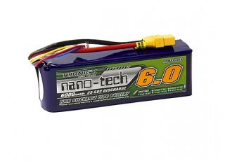 Turnigy nano-tech 6000mAh 4S 25~50C Lipo Pack w/XT-90