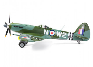 """Durafly™ Supermarine Spitfire Mk24 V2 with Retracts/Flaps/Nav Lights ESC 1100mm (43"""") (PNF) - side view"""