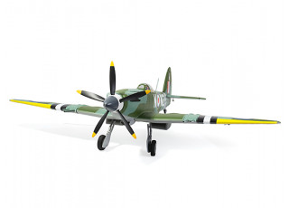 """Durafly™ Supermarine Spitfire Mk24 V2 with Retracts/Flaps/Nav Lights ESC 1100mm (43"""") (PNF) - front"""