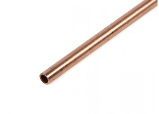 K&S Precision Metals Copper Round Stock Tube 3mm OD x  0.36mm x 1000mm (Qty 1)