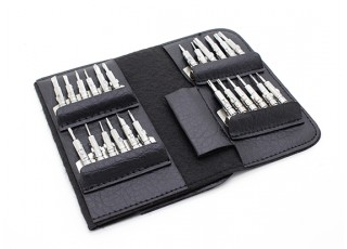 25pc screw driver set with carry case. Black Bedroom Furniture Sets. Home Design Ideas