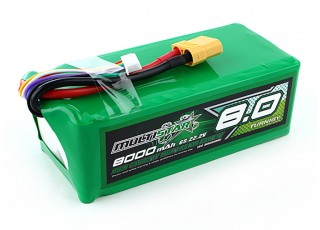 Multistar High Capacity 8000mAh 6S 10C Multi-Rotor Lipo Pack