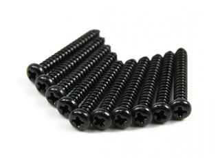 Screw Round Head Phillips M2.6x20mm Self Tapping Steel Black (10pcs)