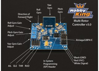 multi rotor control board v atmega pa based on the popular and already well supported kk control board the multi rotor control board is bringing multi rotor madness to the masses