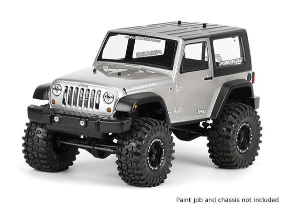 Pro-Line 1/10 Scale Jeep Wrangler Unlimited Rubicon Clear Body For Monster Trucks / Crawlers