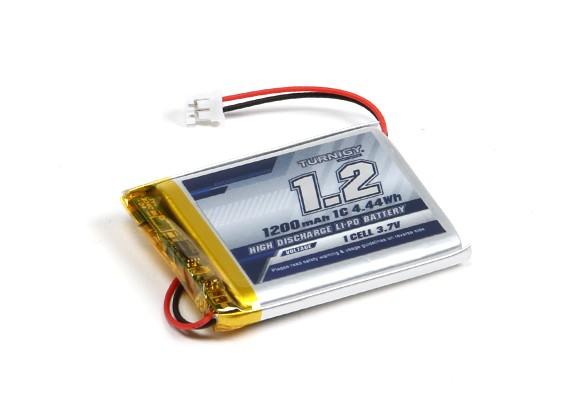 Turnigy 1200mAh 1S 1C Lipoly w/ 2 Pin JST-PH Connector