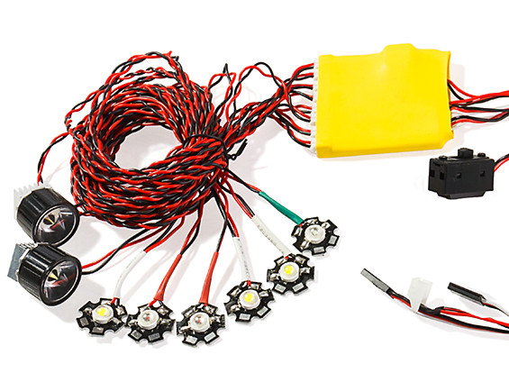 HobbyKing™ High Power 8pc Aircraft Navigation and Landing Light Set