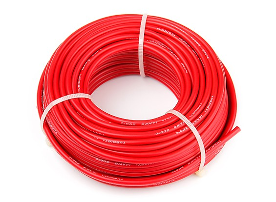 Turnigy High Quality 14AWG Silicone Wire 20m (Red)