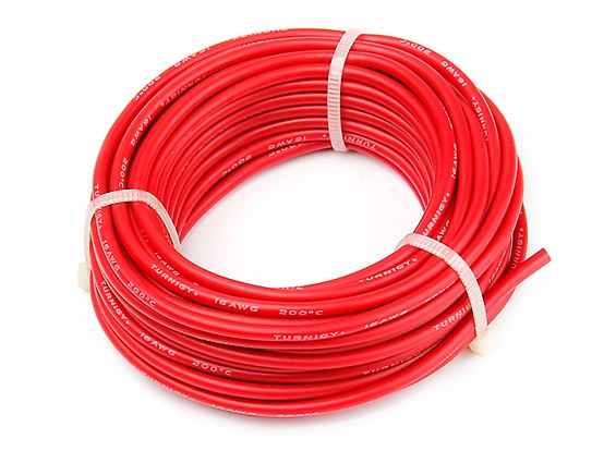 Turnigy High Quality 16AWG Silicone Wire 9m (Red)