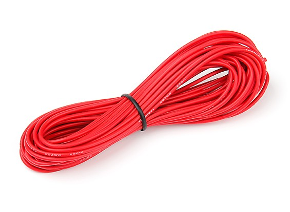 Turnigy High Quality 20AWG Silicone Wire 8m (Red)