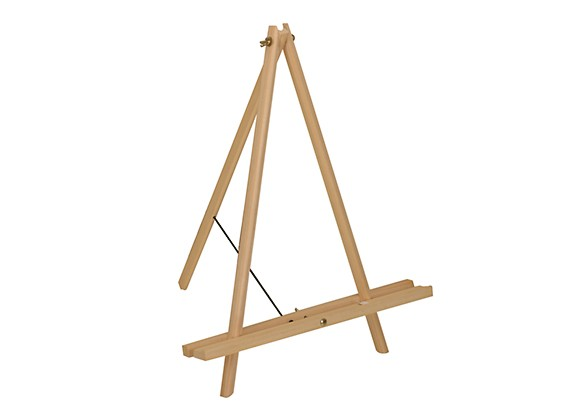 52cm Artists Pinewood Tabletop Tripod Easel