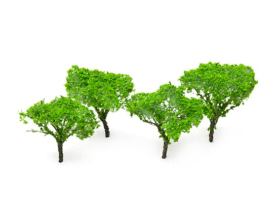 HobbyKing™ 65mm Light Green Scenic Wire Model Trees (4 pcs)