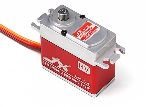JX BLS-HV7025MG Brushless Metal Gear High Torque Digital Servo 25.3kg/0.12sec/70.1g
