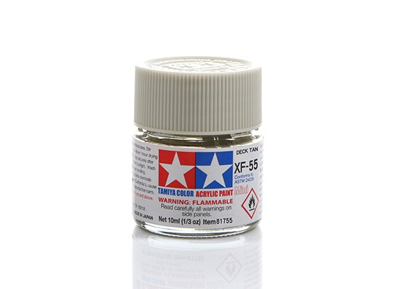 Tamiya XF-55 Flat Deck Tan Grey Mini Acrylic Paint (10ml)
