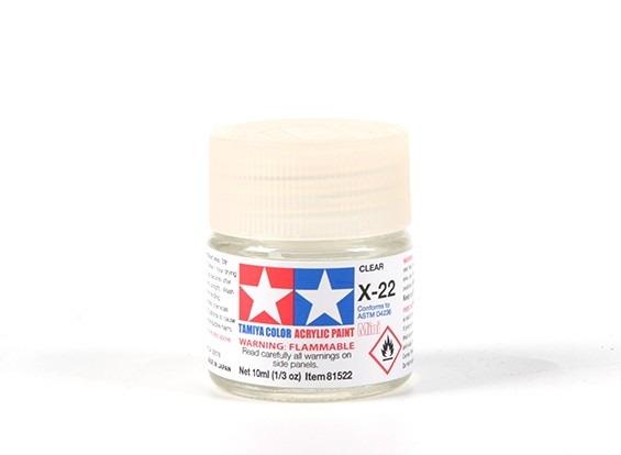 Tamiya X-22 Clear Acrylic Paint (10ml)
