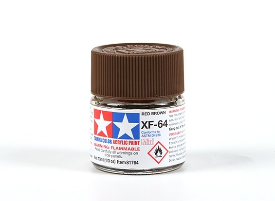 Tamiya XF-64 Flat Brown Acrylic Paint (10ml)