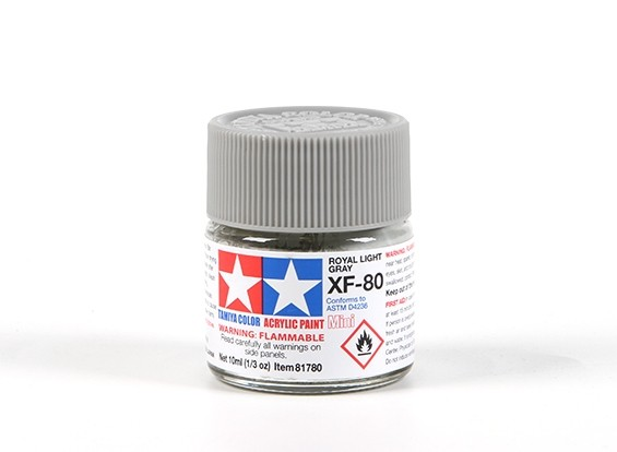 Tamiya XF-80 Royal Grey Acrylic Paint (10ml)