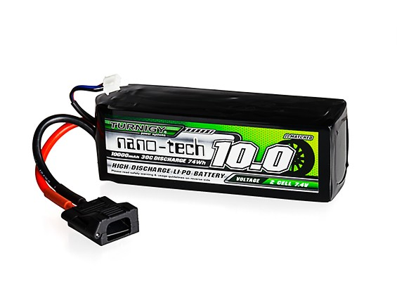 Turnigy nano-tech 10000mAh 2S 30C LiPo Battery w/Flat Connector